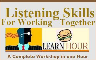 workshop develop effective listening skills for working together